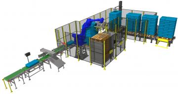 Paletyzacja przy użyciu robotów przemysłowych